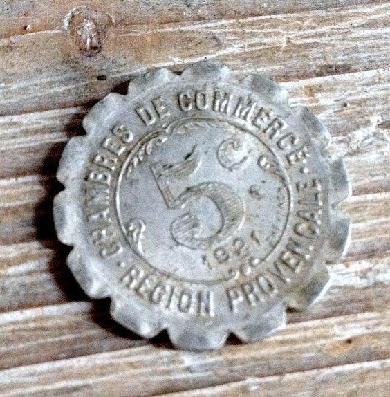 FleaingFrance Brocante Society 5 Centime Jeton Provence