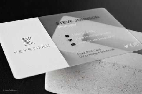 Modern Classic Frost Plastic Pvc Business Card Keystone Graphic Design Business Card Plastic Business Cards Letterpress Business Cards