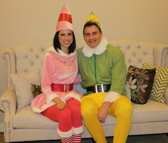 Buddy the Elf and Jovi Halloween costumes