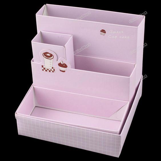 Chinamart-completo-nuevo-tablero-de-papel-bricolaje-caja-de-almacenamiento-de-escritorio-decoración-organizador-papelería-maquillaje.jpg (800×800)