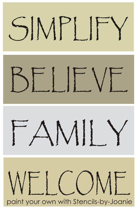 Primitives stencils and signs on pinterest for Quote stencils for crafts