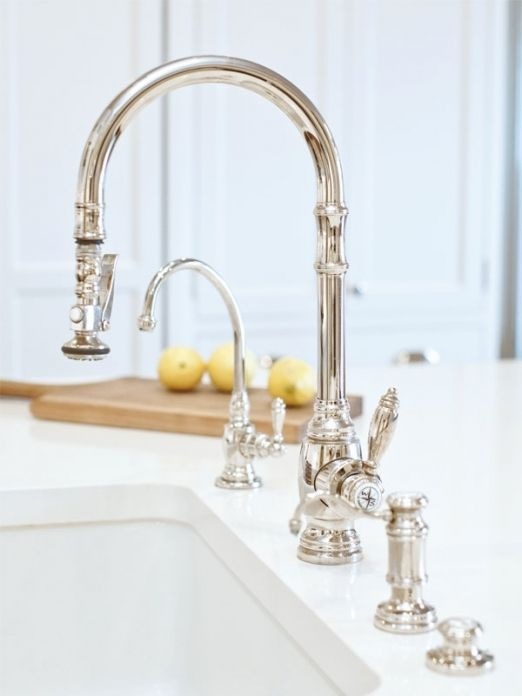 High End Kitchen Faucets Brands With Images Classic White