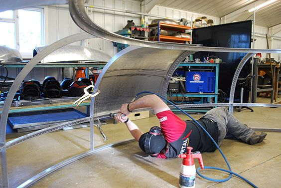 Chris Welding The Bow Of The Room For London Ship Contour Architectural Metalwork Sheet Me Sheet Metal Fabrication Metal Working Projects Metal Fabrication