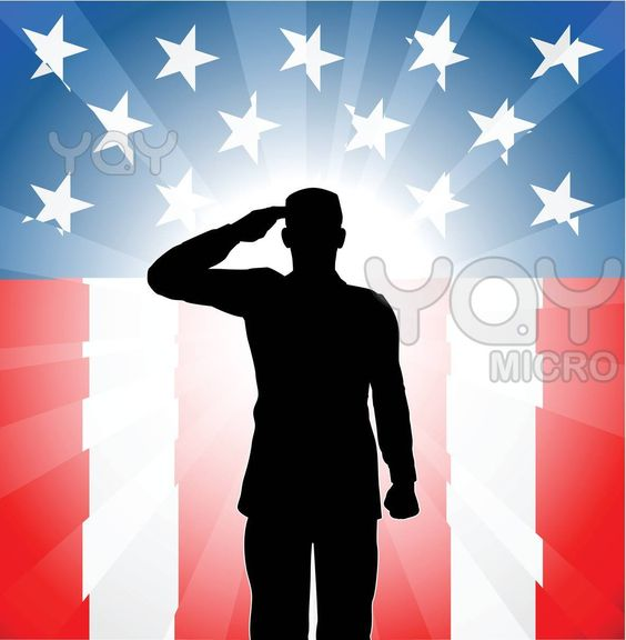 Image detail for -Royalty Free Vector of Patriotic Soldier Salute