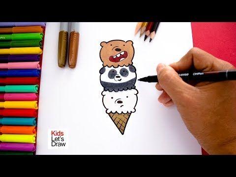 Dibujo Helado Osos Escandalosos Ice Cream We Bare Bears Drawing Escandalosos Dibujos De Escandalosos Como Dibujar Un Oso