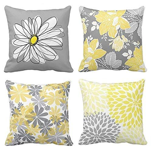 Emvency Set of 4 Throw Pillow Covers