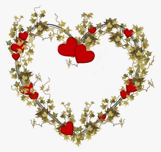 شكل قلب أوراق رسم الحدود Flower Painting Hearts And Roses Clip Art Vintage