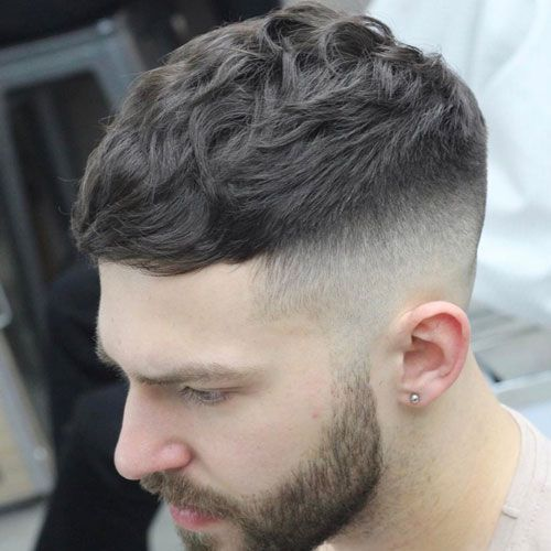 Wavy Crop Top Haircut Wavy Hair Men Best Wavy Hairstyles For Guys Menshairstyles Menshair Mensha Thick Hair Styles Haircuts For Men Mens Hairstyles Short