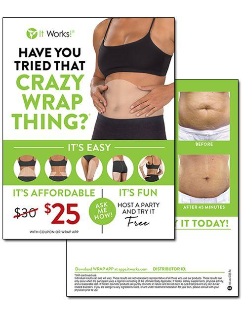 Crazy Wrap Thing Blitz Card 25 Coupon Lose 15 Pounds Lose 20 Pounds Lose 5 Pounds