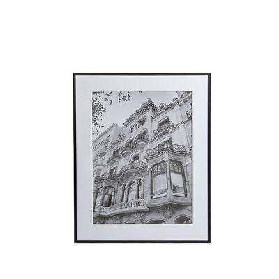 Bilderrahmen mit Passepartout Aluminium schwarz 40x50 cm