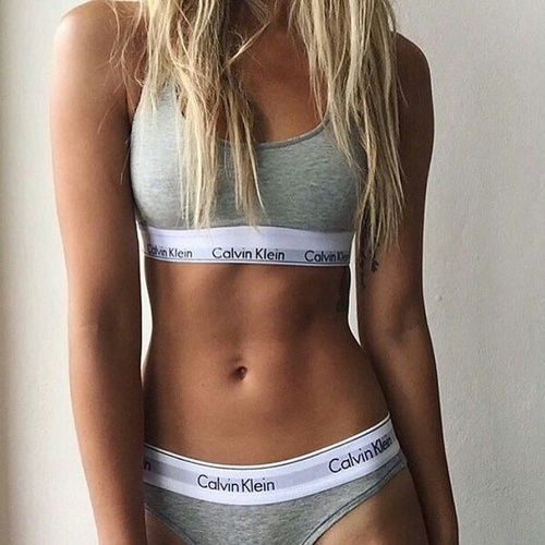 Calvin Klein Bralette and Pants in Grey. Bicestor Village sell much cheaper…