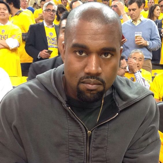 Kanye West in attendance for tonight's big #WCF Game 5.