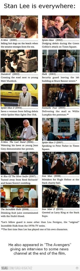 Stan Lees cameos in Marvel movies from-g33k-with-love