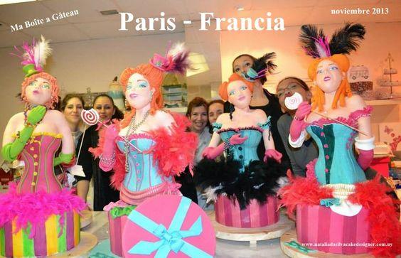 Taller  en Paris -Francia  escuela: Ma Boîte a Gâteau  Noviembre 2013