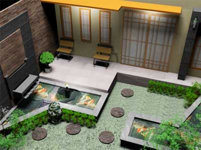 optimalisasi lahan kecil untuk taman minimalis kolam