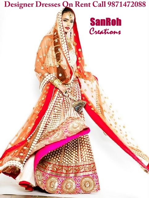 Bridal lehenga on Rent | Wedding Dresses On Rent | Pinterest ...