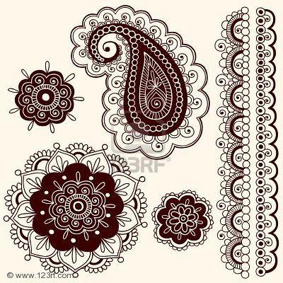 6807573 hand drawn intricate mehndi henna tattoo paisley doodle ...