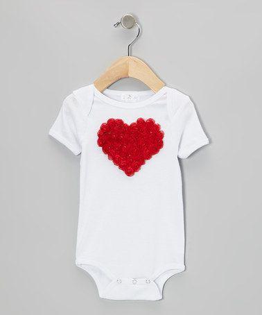 Look what I found on #zulily! White & Red Heart Bodysuit - Infant by Voilà Fancies #zulilyfinds
