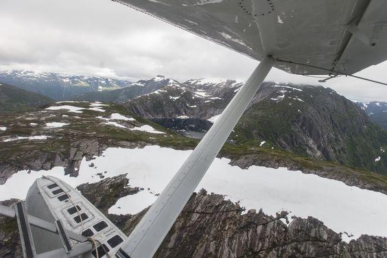 Flightseeing in Alaska.