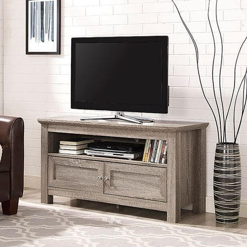 44 Driftwood Gray Tv Stand Tv Stand With Storage Tv Media