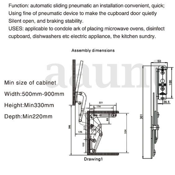 Furniture Cabinets Door Hinge Hydraulic Support Rod Pneumatic Rod Gas Stay Hinge Ebay Cabinet Doors Hinges Door Hinges