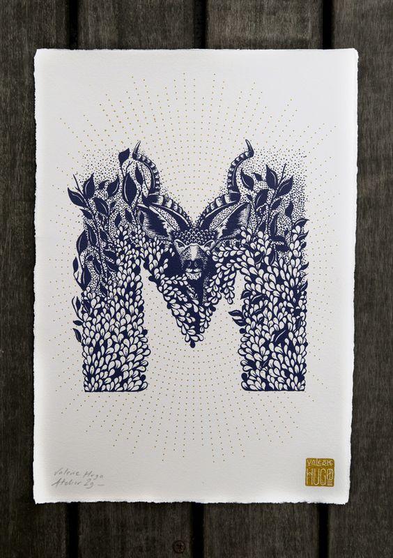 L'artiste Valérie Hugo a trouvé l'occasion d'allier ses deux passions, illustration et graphisme, en dessinant cet alphabet à l'occasion de son...