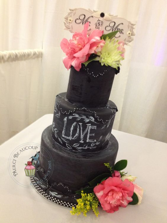 Chalkboard Cake by Reva Alexander-Hawk of Merci Beaucoup Cakes