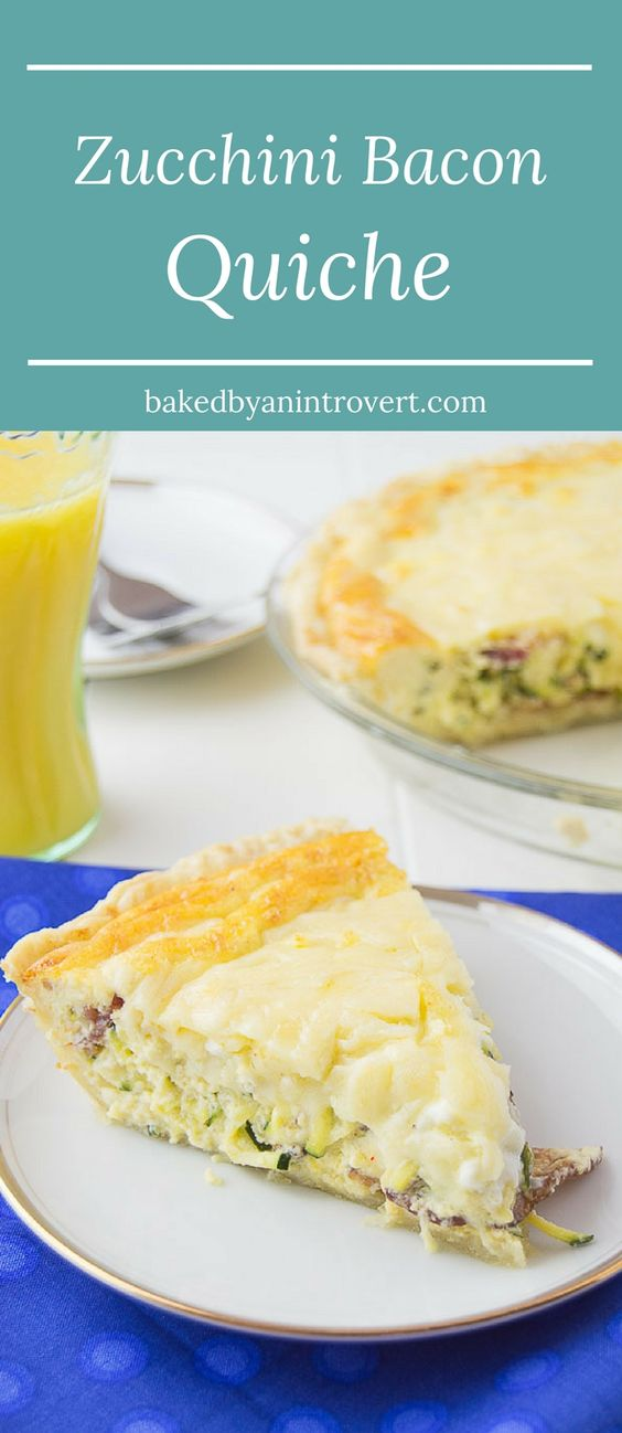 Zucchini Bacon Quiche | Recipe | Bacon quiche, Bacon and Gruyere ...