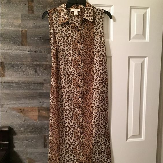 Arden B. Animal Print Kaftan Beach Cover Up Super cute! Never worn. Arden B Dresses