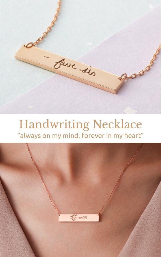 Memorial Handwriting Jewelry
