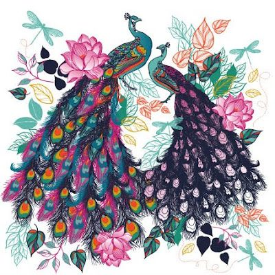 Love these pretty peacocks!