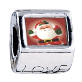 Merry Santa Photo Love Charms  Fit pandora,trollbeads,chamilia,biagi,soufeel and any customized bracelet/necklaces. #Jewelry #Fashion #Silver# handcraft #DIY #Accessory