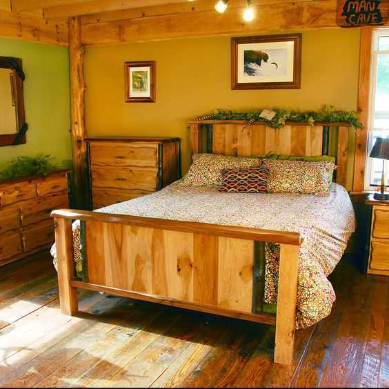 Lewis And Clark Rustic Walnut And Hickory Bedroom Set