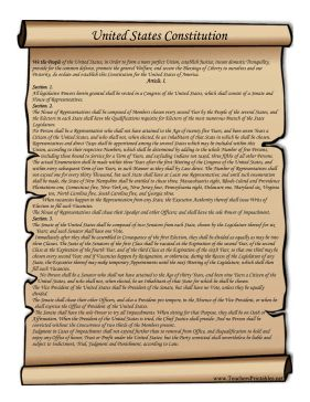 this printable scroll features the text of the united states 39 constitution free to download and. Black Bedroom Furniture Sets. Home Design Ideas
