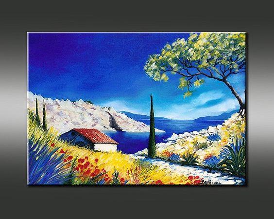 Galerie de peinture de l 39 artiste peintre bruni exposition et vente de ta - Vente tableau peinture ...