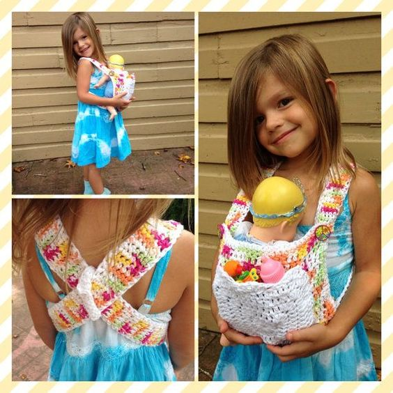 Free Crochet Pattern Baby Carrier : baby doll carrier backpack crochet Easy to Use ...