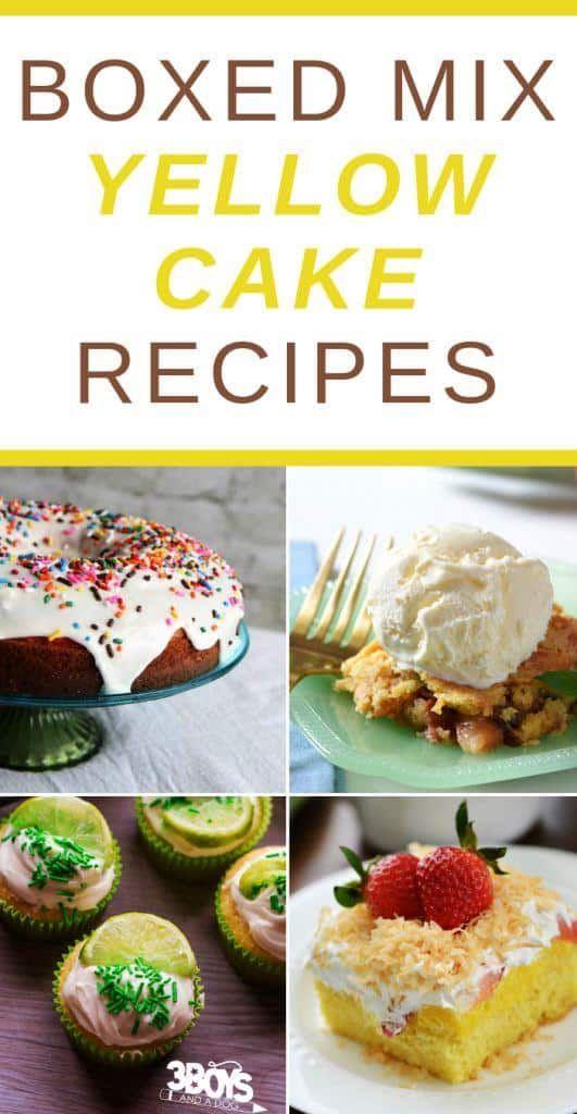 Yellow Cake Mix Recipe Ideas Yellow Cake Mixes Cake Mix Recipes