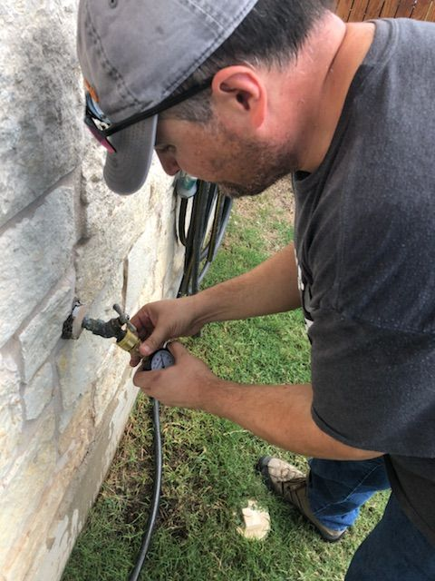 First step in water leak detection: our #plumber attaches a ... on