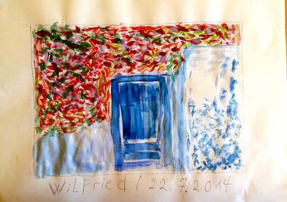 Spanische Tür - Aquarell - Wilfried