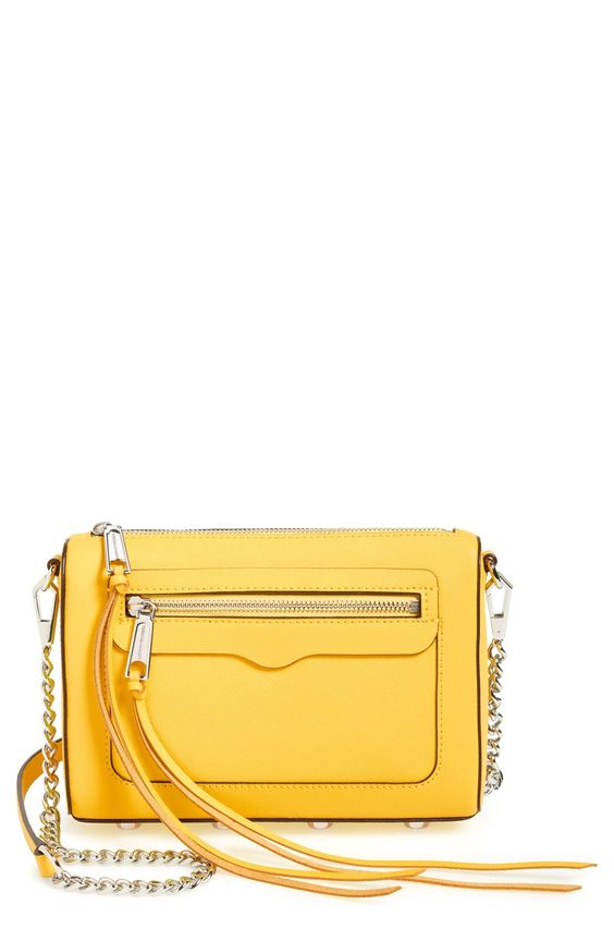 Love this classic Rebecca Minkoff crossbody in a bright pop of color for a bold statement.