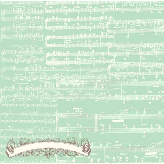 Music Notes Paper Everyday Eclectic Echo Park (€38) found on Polyvore