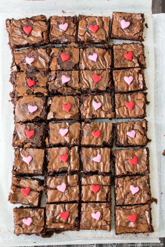This recipe's name says it all. Super Fudgy Brownies are moist, decadent, and super-chocolaty treats that are sure to be a hit this Valentine's Day!