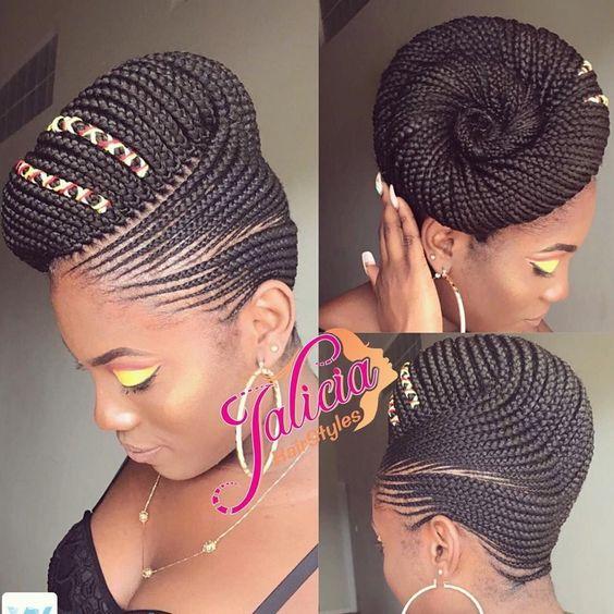 Braided Cornrow Hairstyles: The Best Styles You will Love - Digest NaijaDigest Naija #WomensHairstylesLongGlasses #ShagHairstylesBackView
