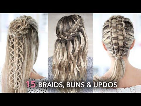 15 Beautiful Braids Buns And Updos Easy Hairstyle Tutorial Youtube In 2020 Easy Hairstyles Hair Tutorial Beautiful Braids