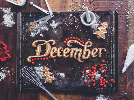 I had so much fun making this! I cut the lettering out of homemade gingerbread cookie dough, baked and then decorated. My house smelled like cinnamon and ginger for days.  I can't believe December ...
