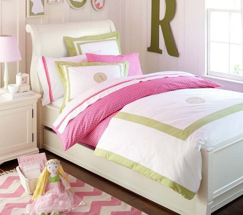 Sleigh beds full bed with trundle and pottery barn kids - Pottery barn bedroom furniture sets ...