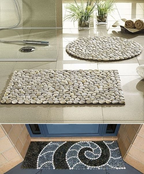 Try a River Stone Mat for Your Home - http://www.amazinginteriordesign.com/try-river-stone-mat-home/: