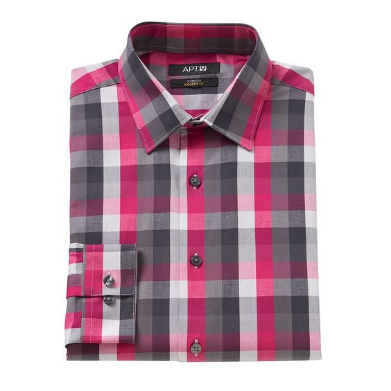 Men's Apt. 9® Modern-Fit Patterned Stretch Dress Shirt,