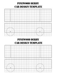 Pinewood Derby Car Blank Grid Sheets - Three Rivers District ...