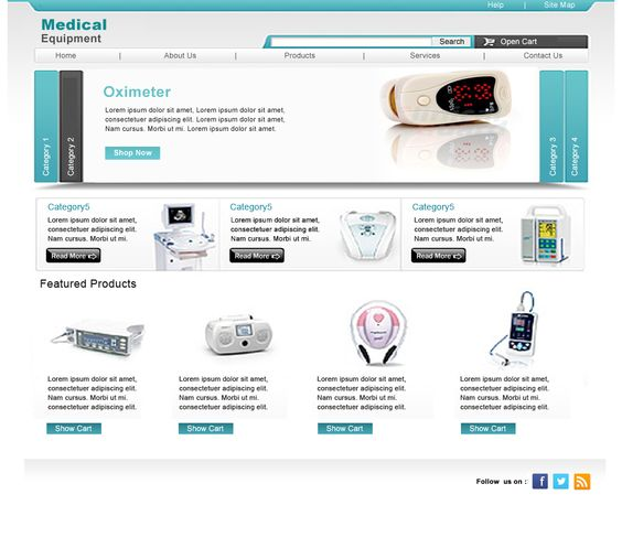 Internal Page Design of Medical Equipment Website - 2